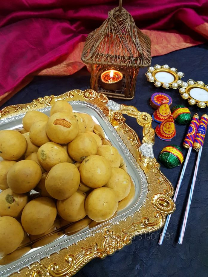 How to make besan laddoos