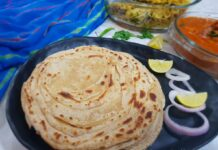 Wholewheat Lachcha Parathas