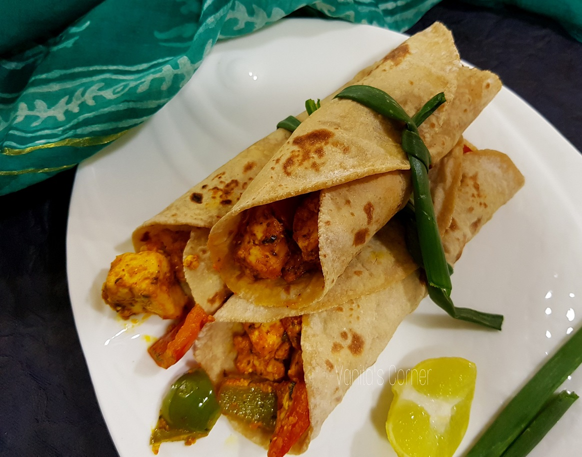 Wholewheat Paneer Kathi roll