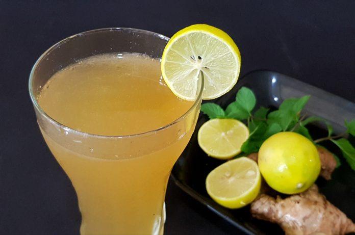 Ginger lemon cooler