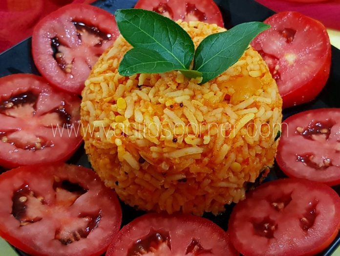 South Indian style tomato rice