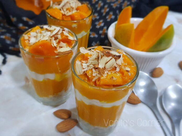 Mango Oats Parfait