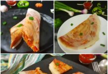 3 varieties of Schezwan dosa