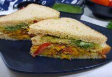 Eggless Omelette Sandwich