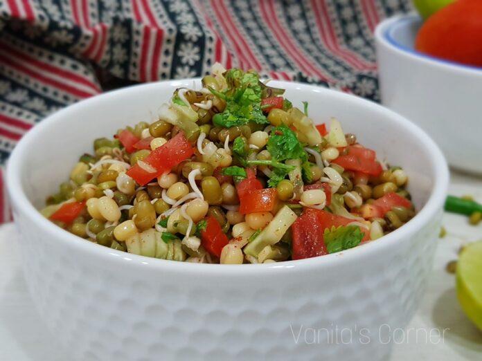 Protein rich vegetarian salad