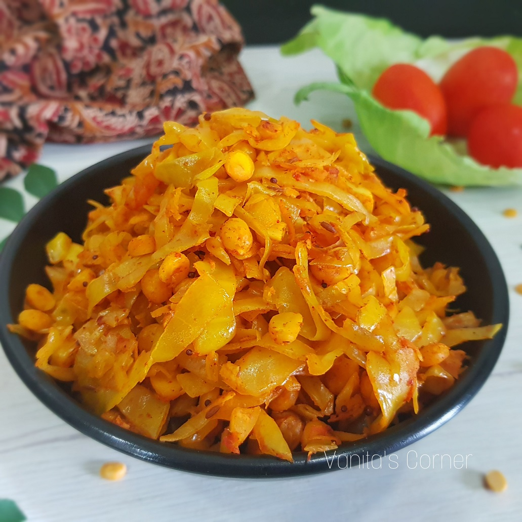 Cabbage Chana Dal Sabzi
