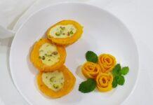 Kulfi stuffed mangoes