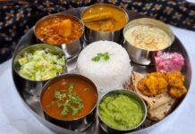 Festive vegetarian thali