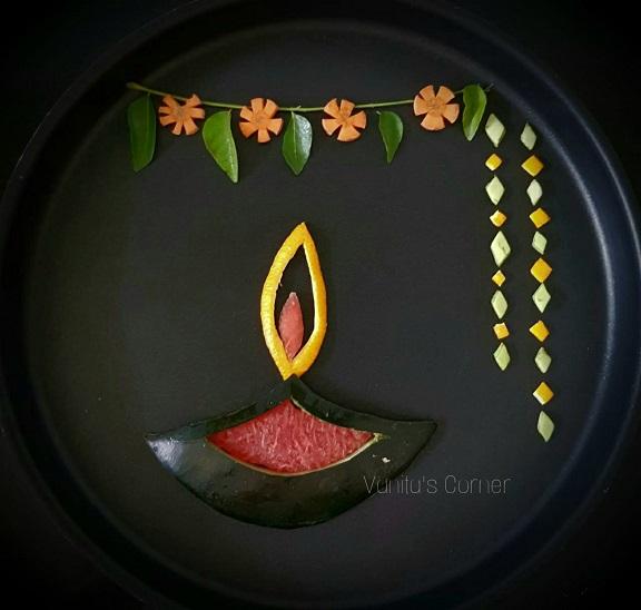 Diwali rangoli food art
