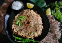 Sweet potato Sabudana Thalipeeth